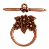 Toggle - 3 Flowers 15mm Antique Copper